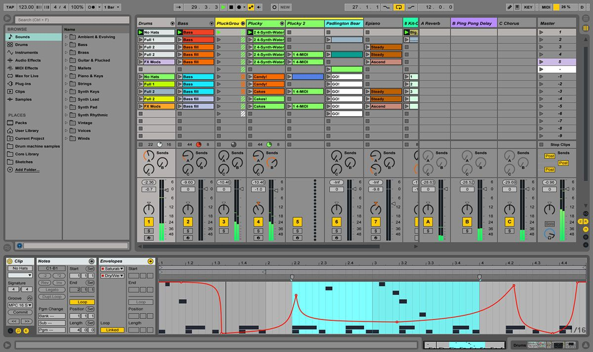Ableton Live 9 Workspace