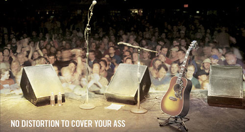 Gibson acoustic guitar ad