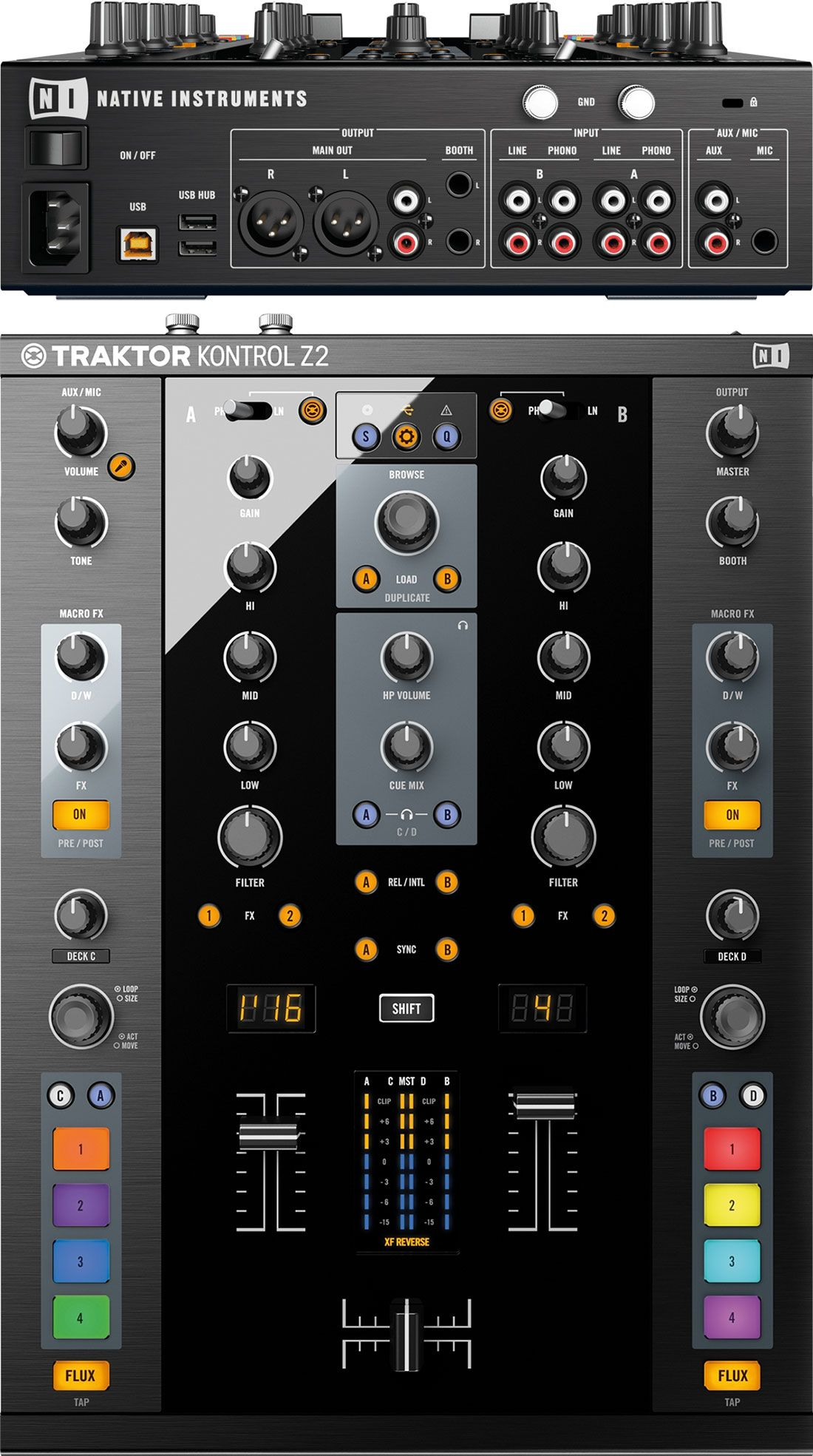 Best DJ Mixer - Native Instruments TRAKTOR KONTROL Z2