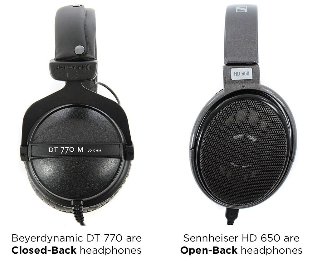 Closed-back vs. open back-headphones
