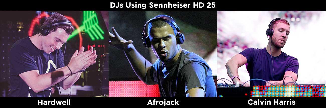 DJs Using Sennheiser HD 25