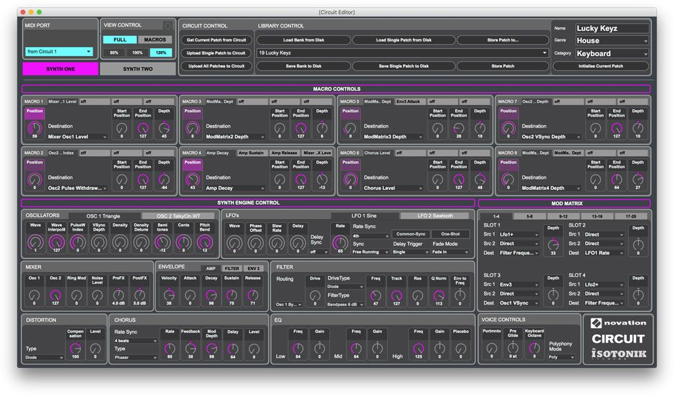 Novation Circuit Editor