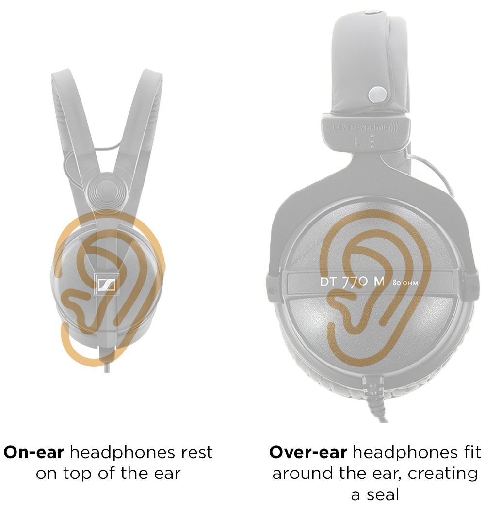 On-ear vs. over-ear headphones