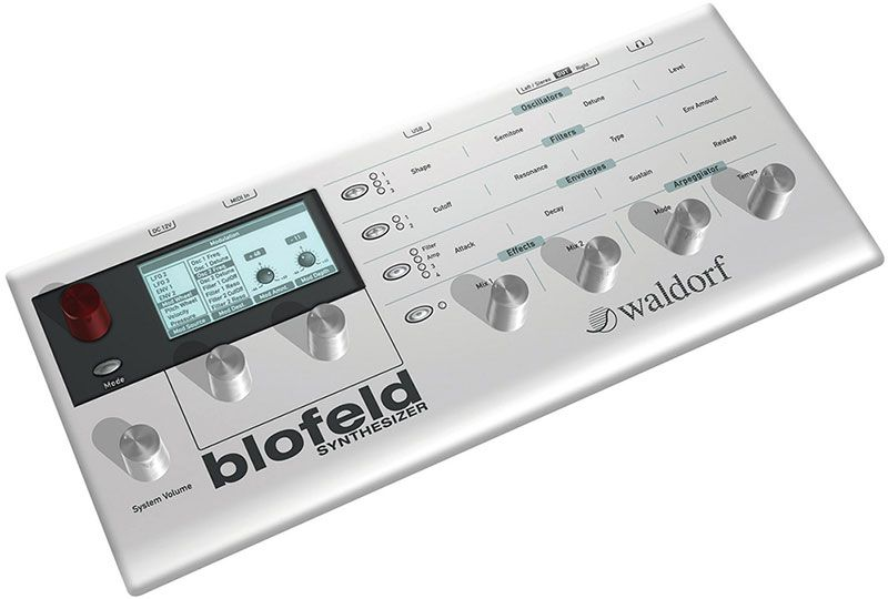 The Waldorf Blofeld is an example of a synth module