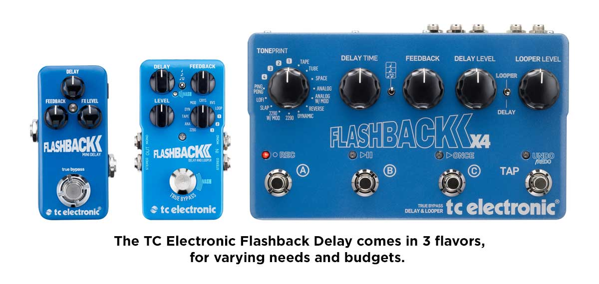 TC Electronic Flashback Delay Pedal Family
