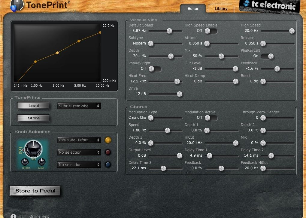 TC Electronic Viscous Vibe TonePrint Editor