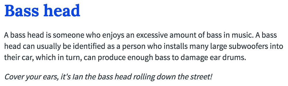What is a basshead?