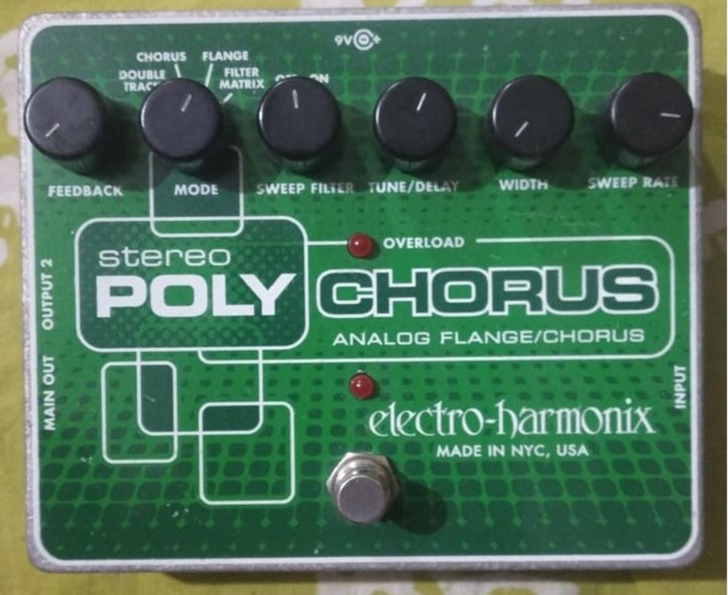 Photo of Electro-Harmonix Stereo Polychorus in a closeup