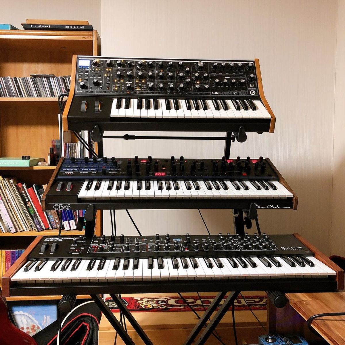 Photo of Dave Smith Instruments Sequential Prophet REV2 and more gear in a synths
