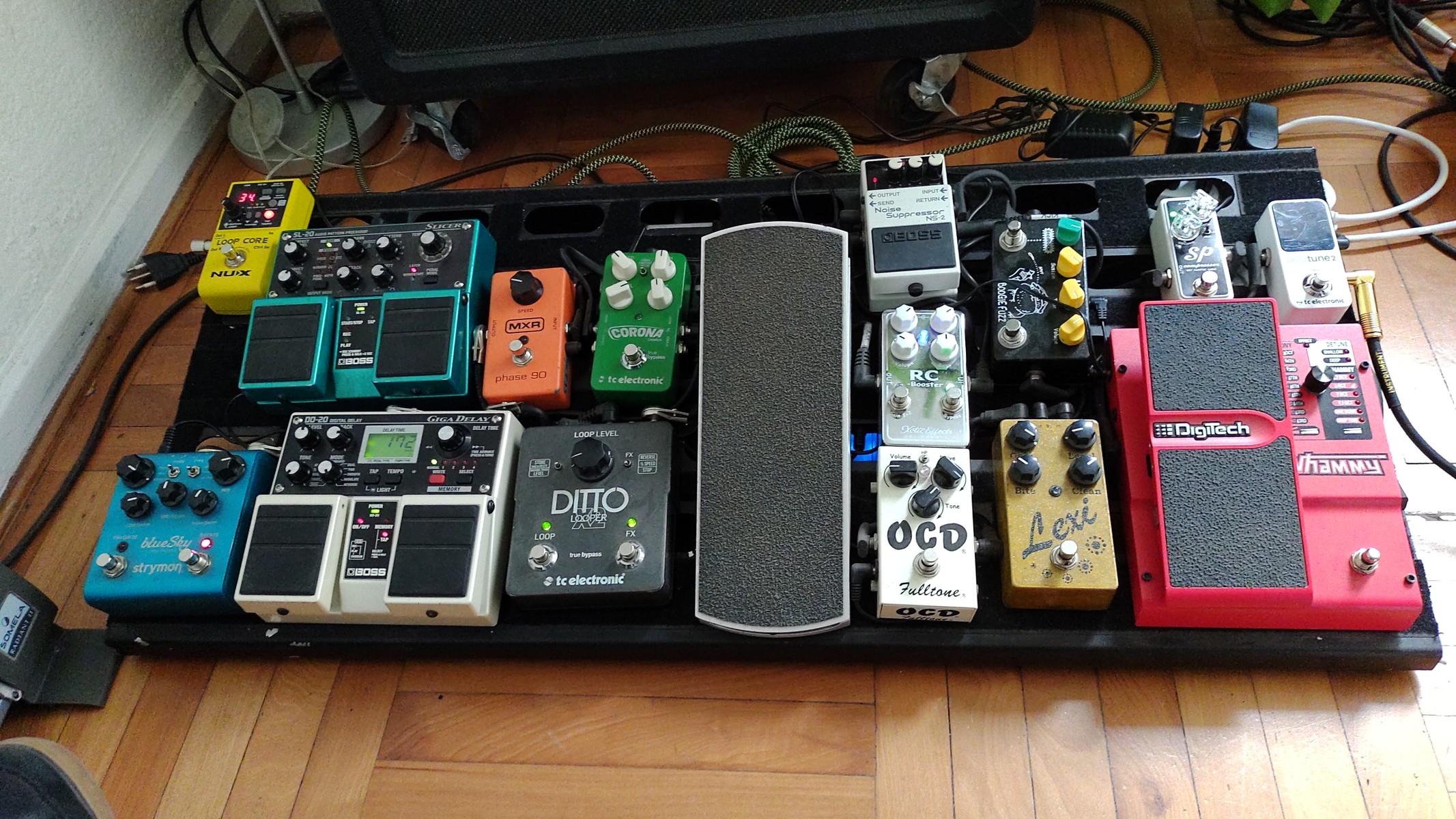 Photo of Xotic Effects SP Compressor Pedal and more gear in a pedalboard
