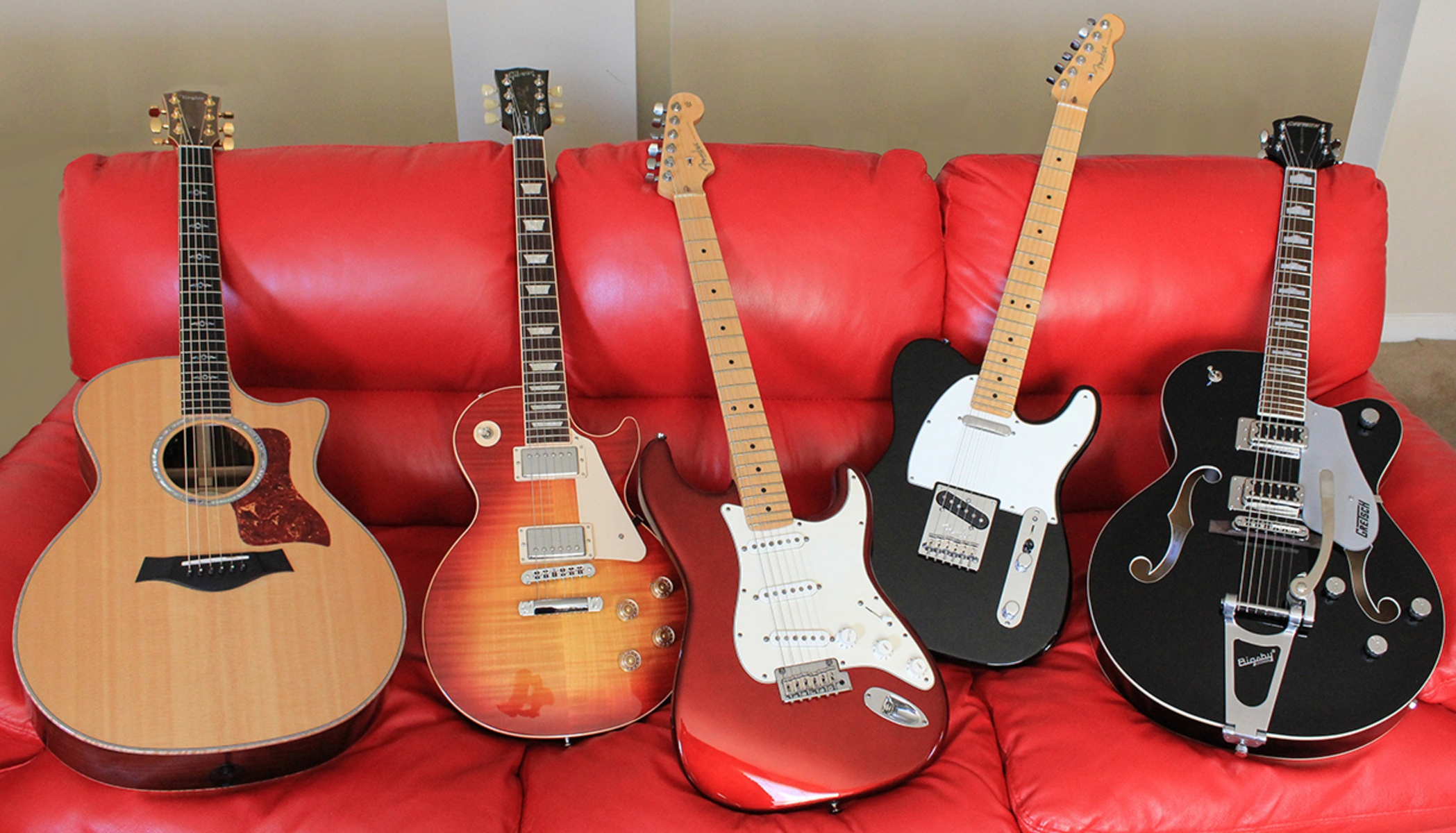 Large guitar collection compressed