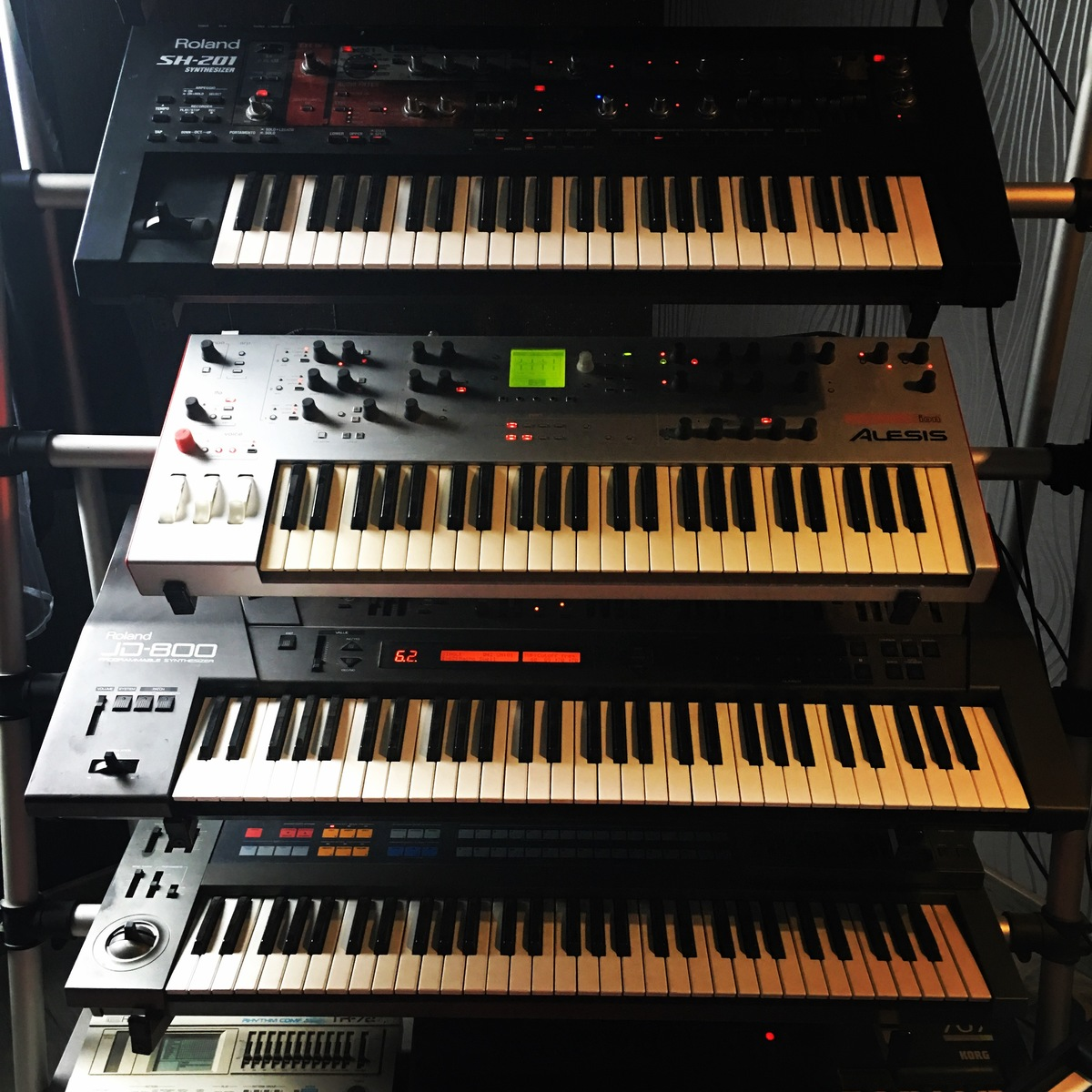 Photo of Roland JD-800 Synthesizer and more gear