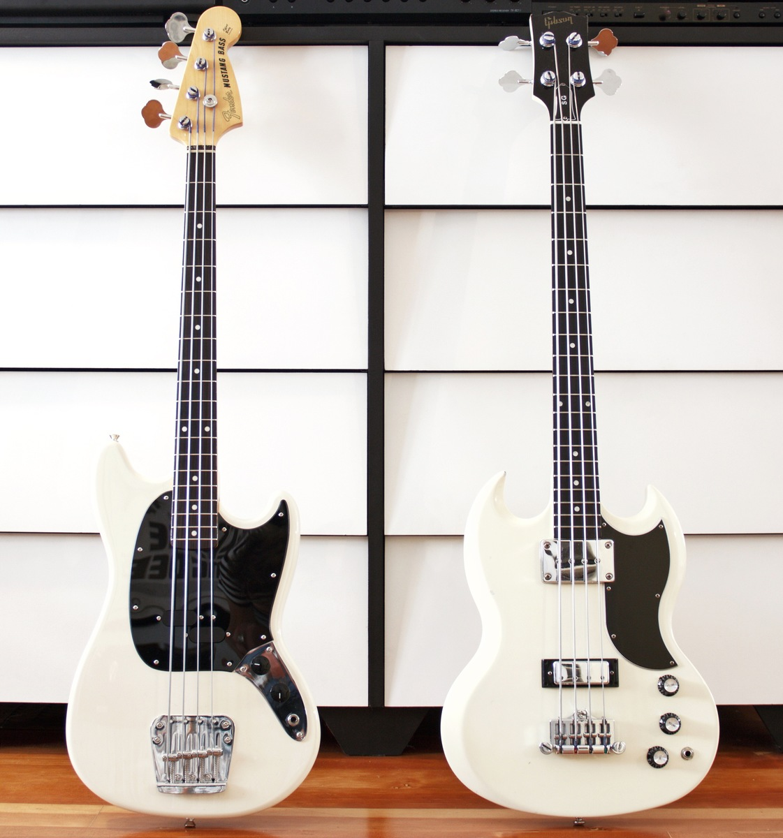 Photo of Gibson SG Bass Guitar and more gear