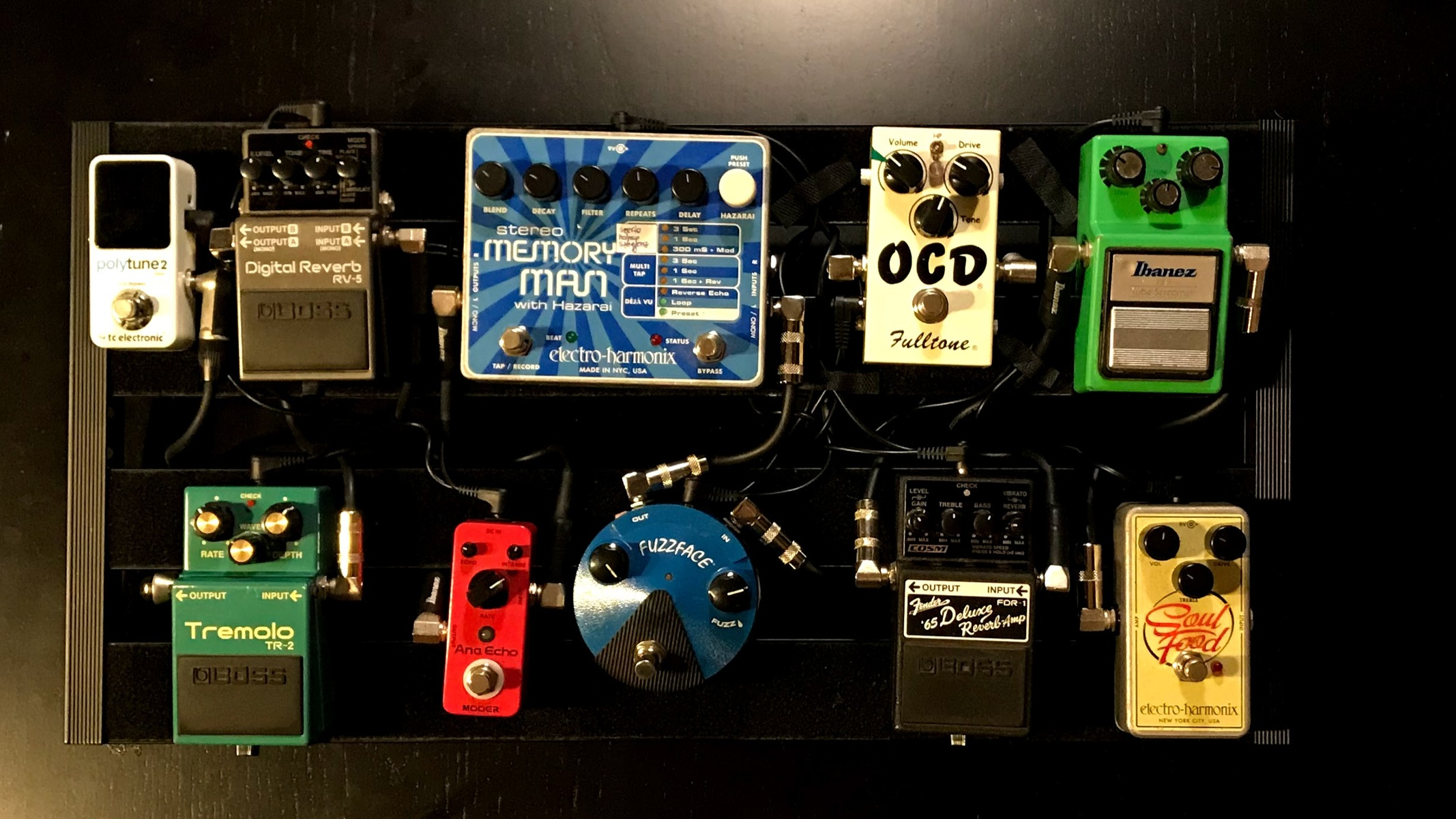 Photo of Electro-Harmonix Stereo Memory Man with Hazarai and more gear