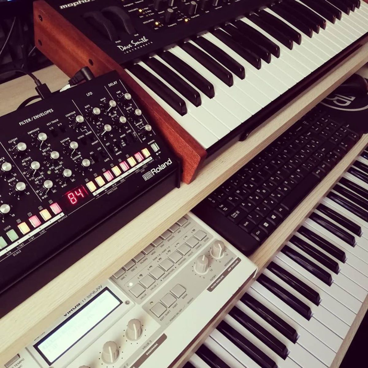 Photo of Dave Smith Instruments Mopho x4 Synthesizer Keyboard and more gear