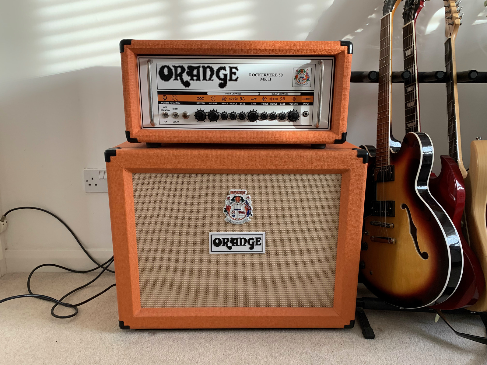 Photo of Orange PPC412 Guitar Speaker Cabinet and more gear