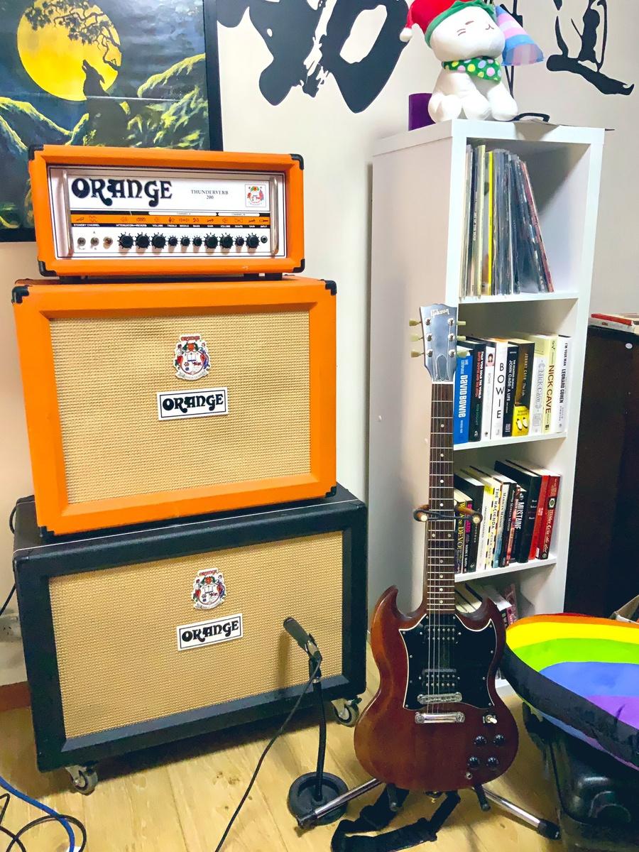 Photo of Orange Thunderverb 200-Watt Tube Guitar Amp Head and more gear