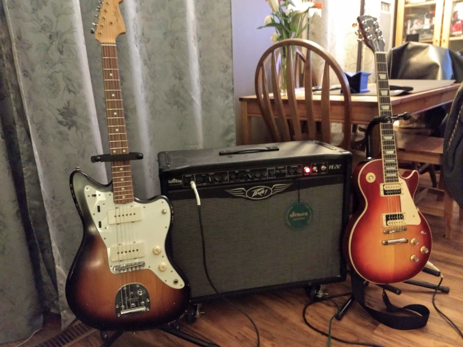 Photo of Fender Jazzmaster Electric Guitar and more gear