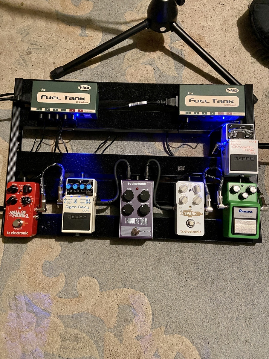 Photo of TC Electronic Hall of Fame 2 Reverb and more gear in a pedalboard