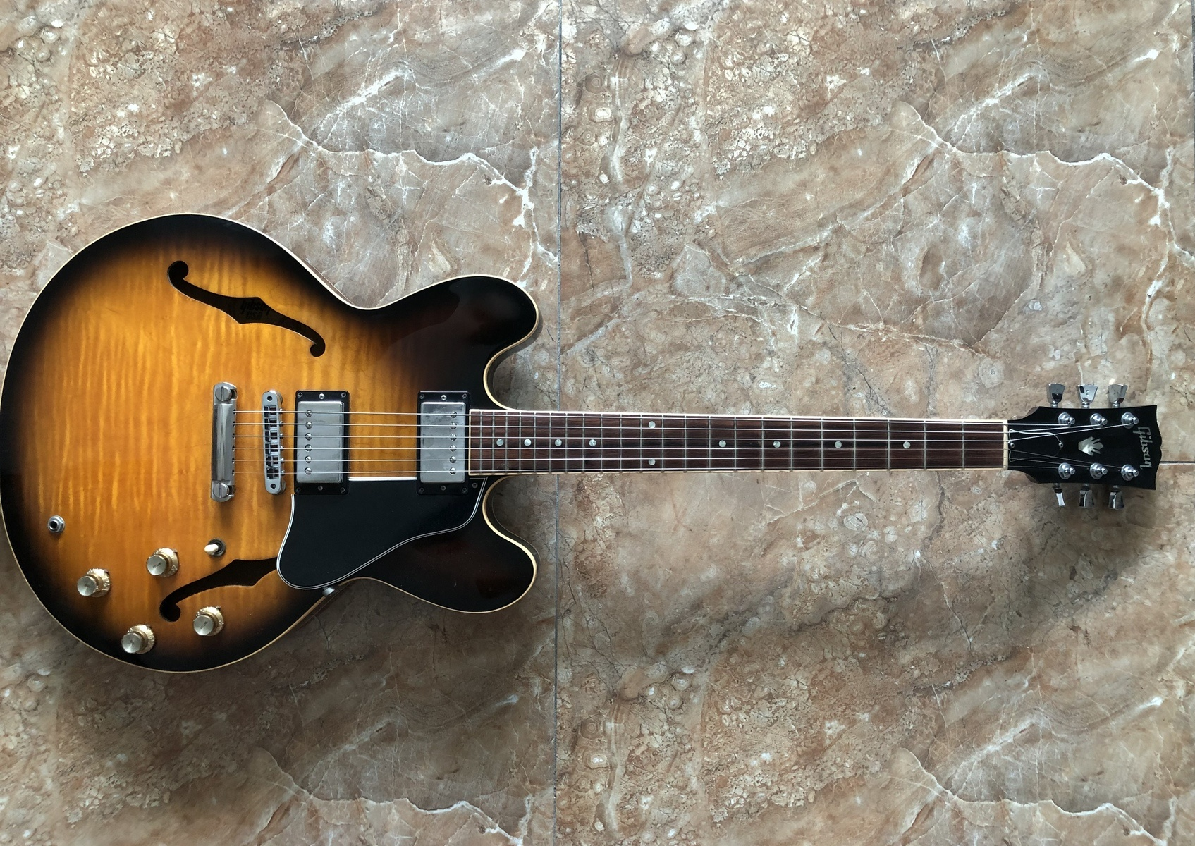 Photo of Gibson ES-335 Electric Guitar in a guitar