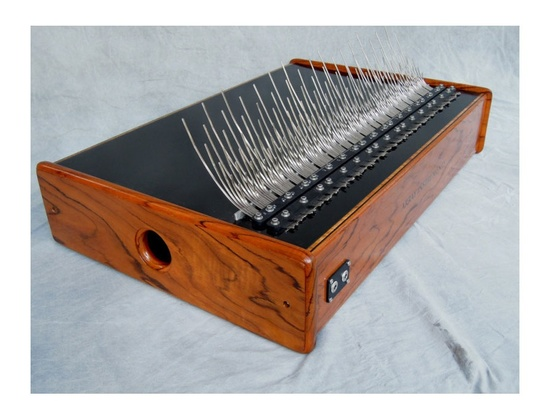 Array Five-Octave Teak Mbira with Nickel Keys
