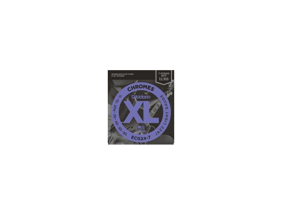 D'Addario ECG24-7 XL Chromes 7 String Set 11-65
