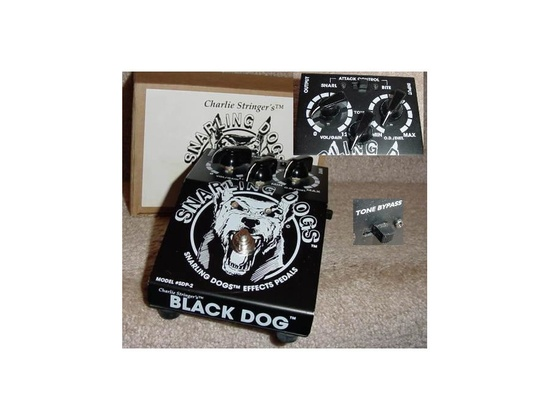 Snarling Dogs Black Dog