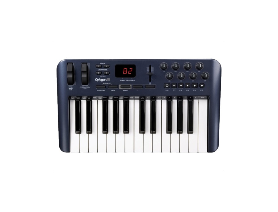 M audio oxygen 25 25 key usb midi keyboard controller xl