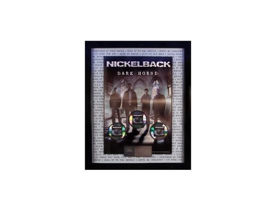 RIAA 3x Platinum Sales Award - Nickelback - Dark Horse