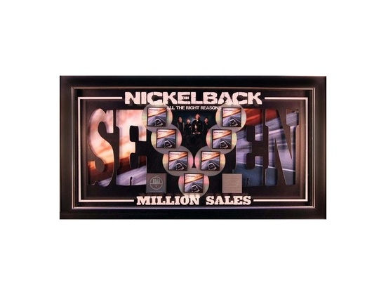 RIAA 7x Platinum Sales Award - Nickelback - All The Right Reasons