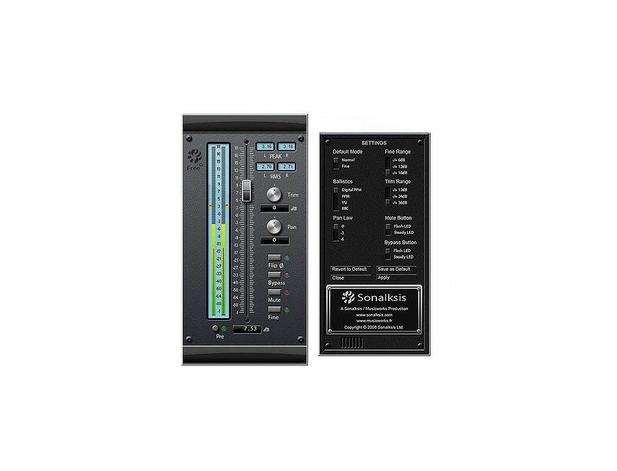 Sonalksis FreeG Gain Plugin