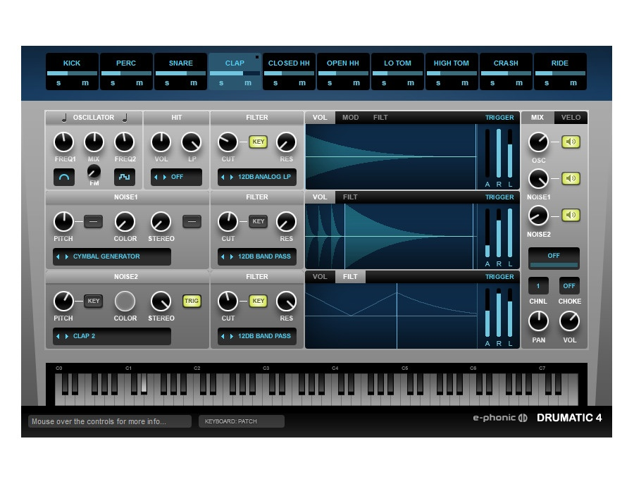 Drumatic 4 VST Drum Synthesizer