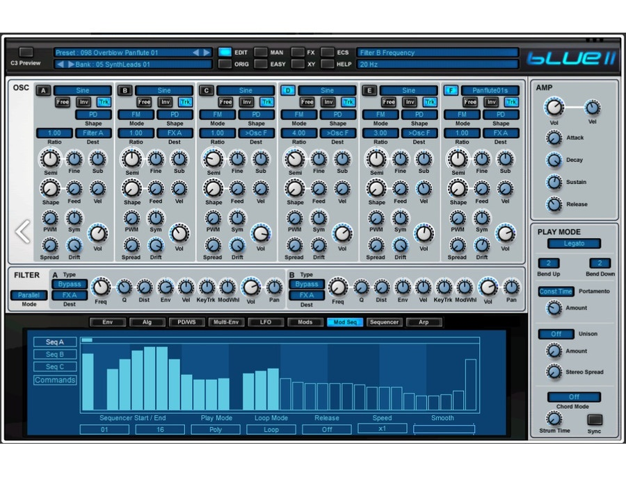 Rob Papen BLUE 2 Software Synthesizer