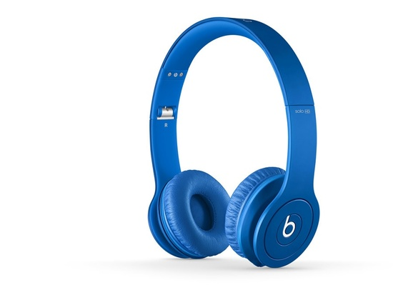 Beats by Dre Solo2 On-Ear Headphones (Blue)