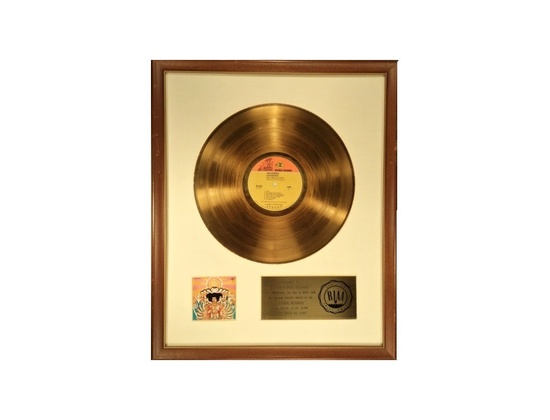 RIAA Gold Sales Award - Jimi Hendrix - Axis: Bold as Love