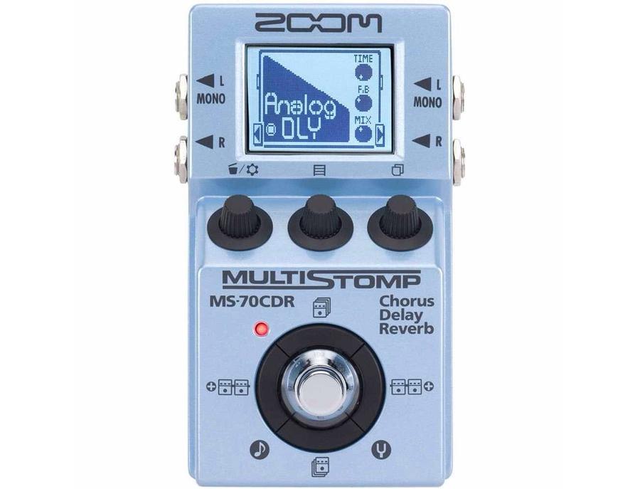 Zoom ms 70cdr multistomp chorus delay reverb pedal xl
