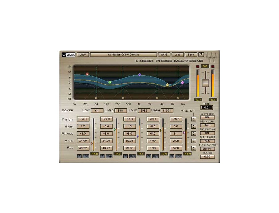 Waves Linear Phase Multiband Compressor Plugin