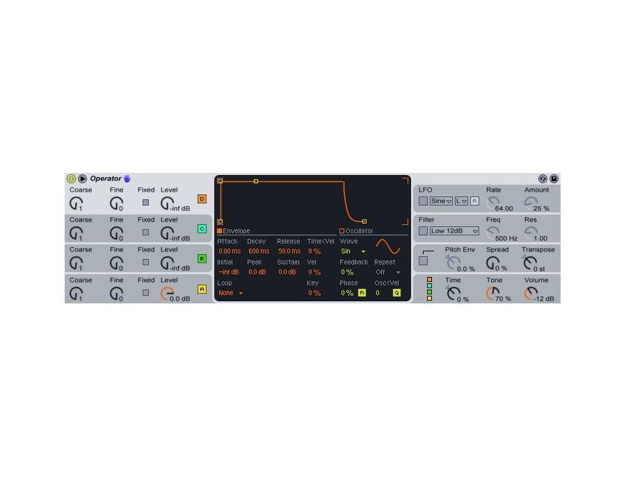 Ableton operator fm synthesizer plugin xl
