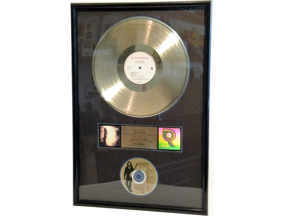 "RIAA Gold Sales Award – ""The Extremist"""