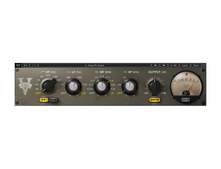 Waves V-EQ3 Equalizer Plugin
