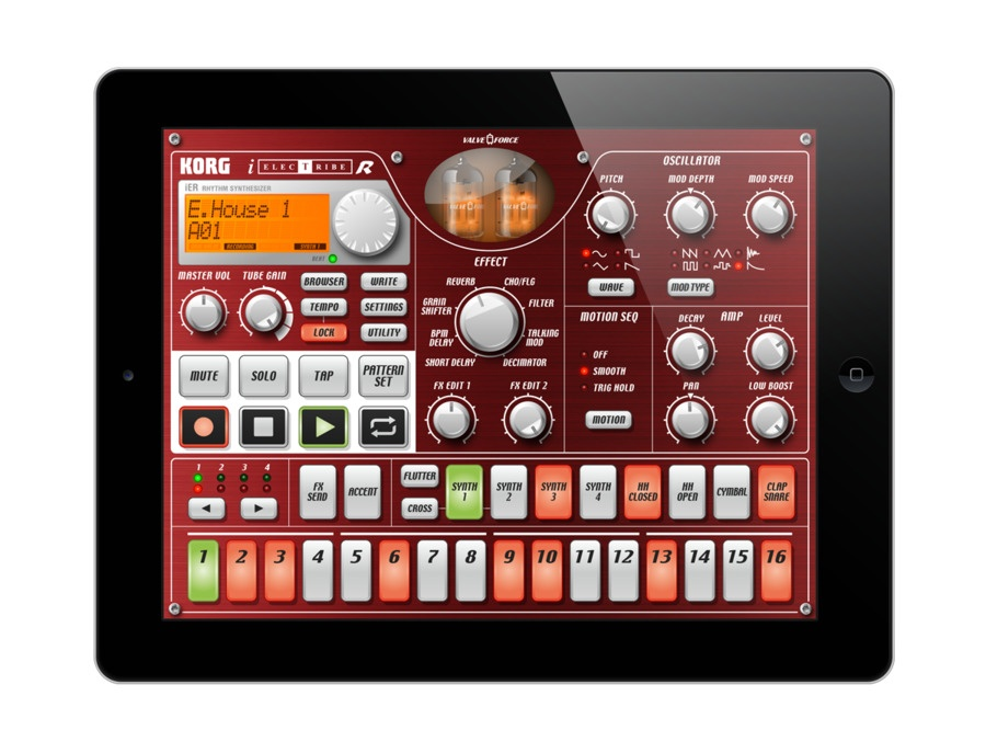 KORG iELECTRIBE App for iPad