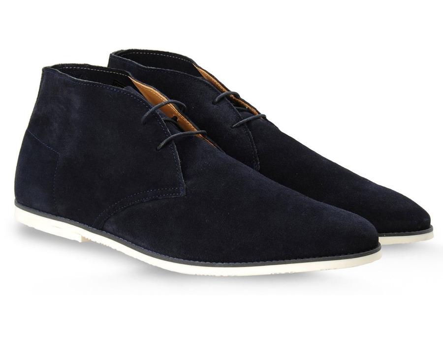 Emporio Armani Desert Boots Dark Blue