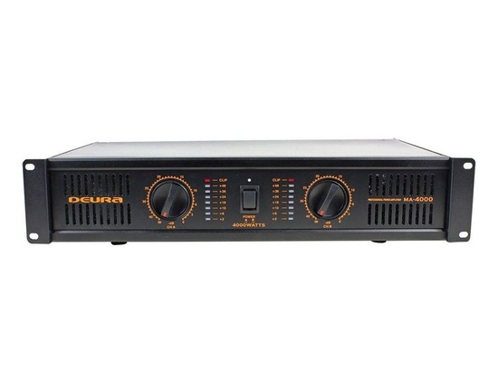 Deura MA-4000 4,000 Watt 2 channel 2U Rack DJ Professional Power Amplifier with Built-in Fan