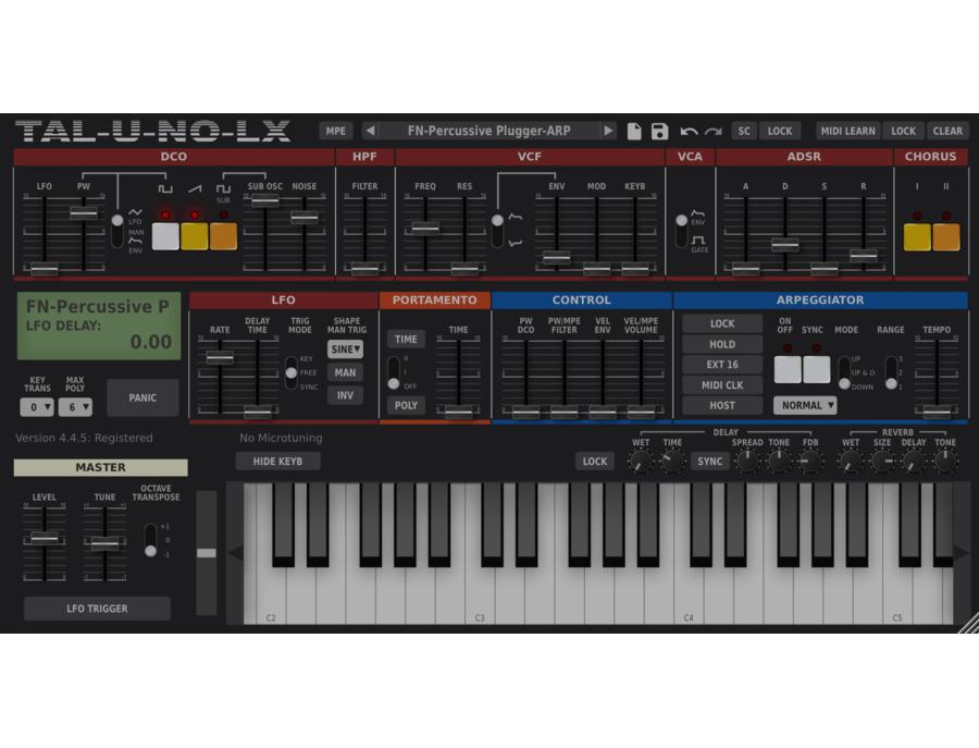 TAL-Togu Audio Line TAL-U-NO-LX Software Synthesizer