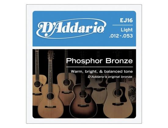 D'Addario EJ16 Phosphor Bronze Light Acoustic Guitar Strings