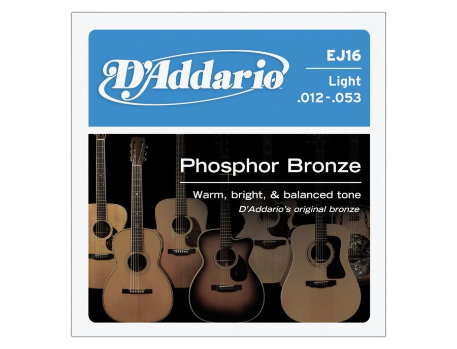 D addario ej16 phosphor bronze light acoustic guitar strings xl