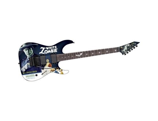 ESP LTD Kirk Hammett Signature White Zombie Electric Guitar