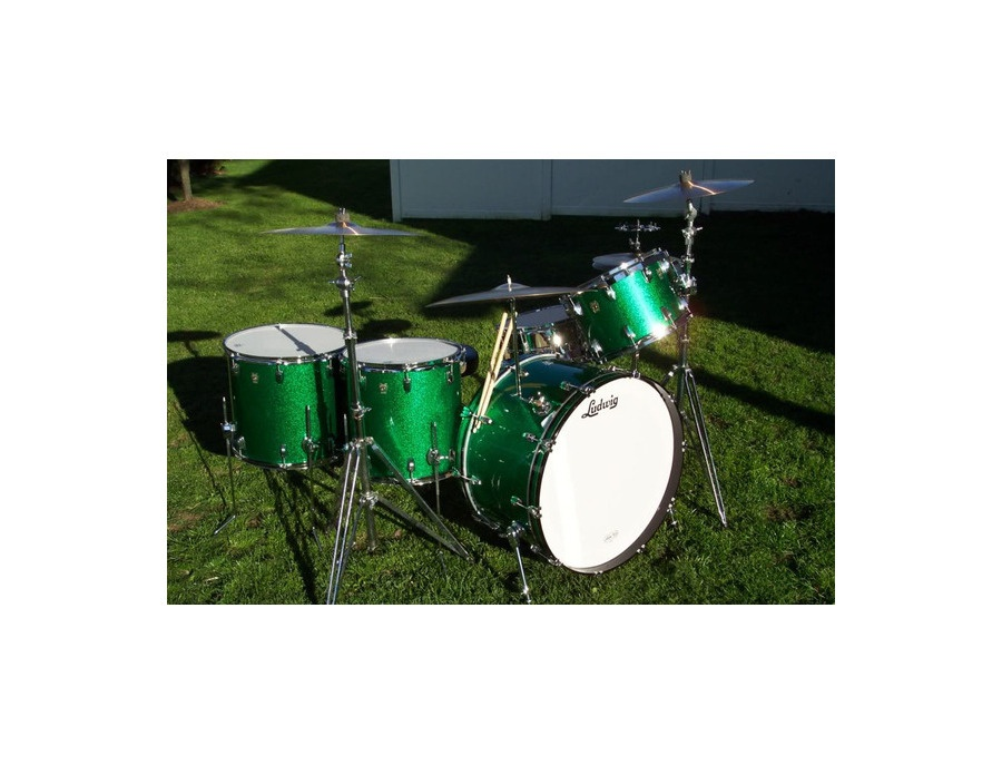 Ludwig Green Sparkle Drumkit