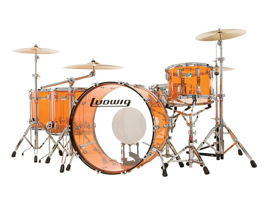 Ludwig Amber Vistalite Drumkit