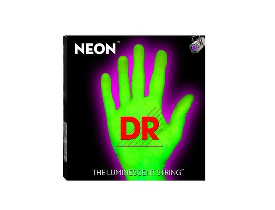 DR Strings Hi-Def Neon Green Electric
